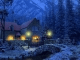 3D Snowy Cottage Animated Wallpaper