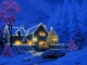 3D Christmas Cottage Animated Wallpaper