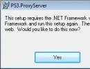 It requires net framework 1.1