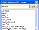 English-Malayalam Dictionary panel