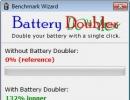 Battery saved