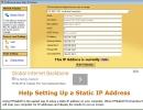 Setting Static IP Address