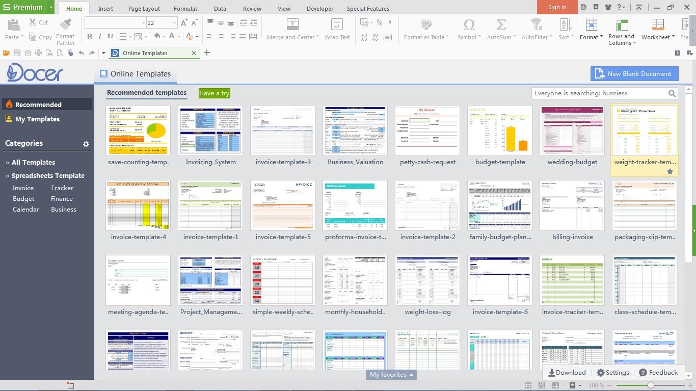 Spreadsheets Templates
