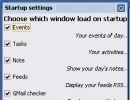 Startup Settings Window