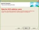 AVG users notification