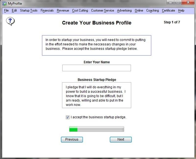 Creating a Business Profile pledge
