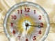 7art Crystal Clock Gold Diamond © 7art-screensavers.com